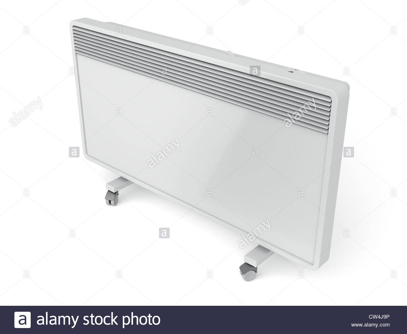 Mobile convection heater on white background Stock Photo 49889330 1300x1065