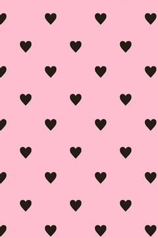 Pink And Black Wallpapers Black Cute Heart Pink 640x960