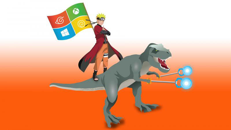 Contest Ninjacat riding a T Rex round up and your chance to win a t 800x450
