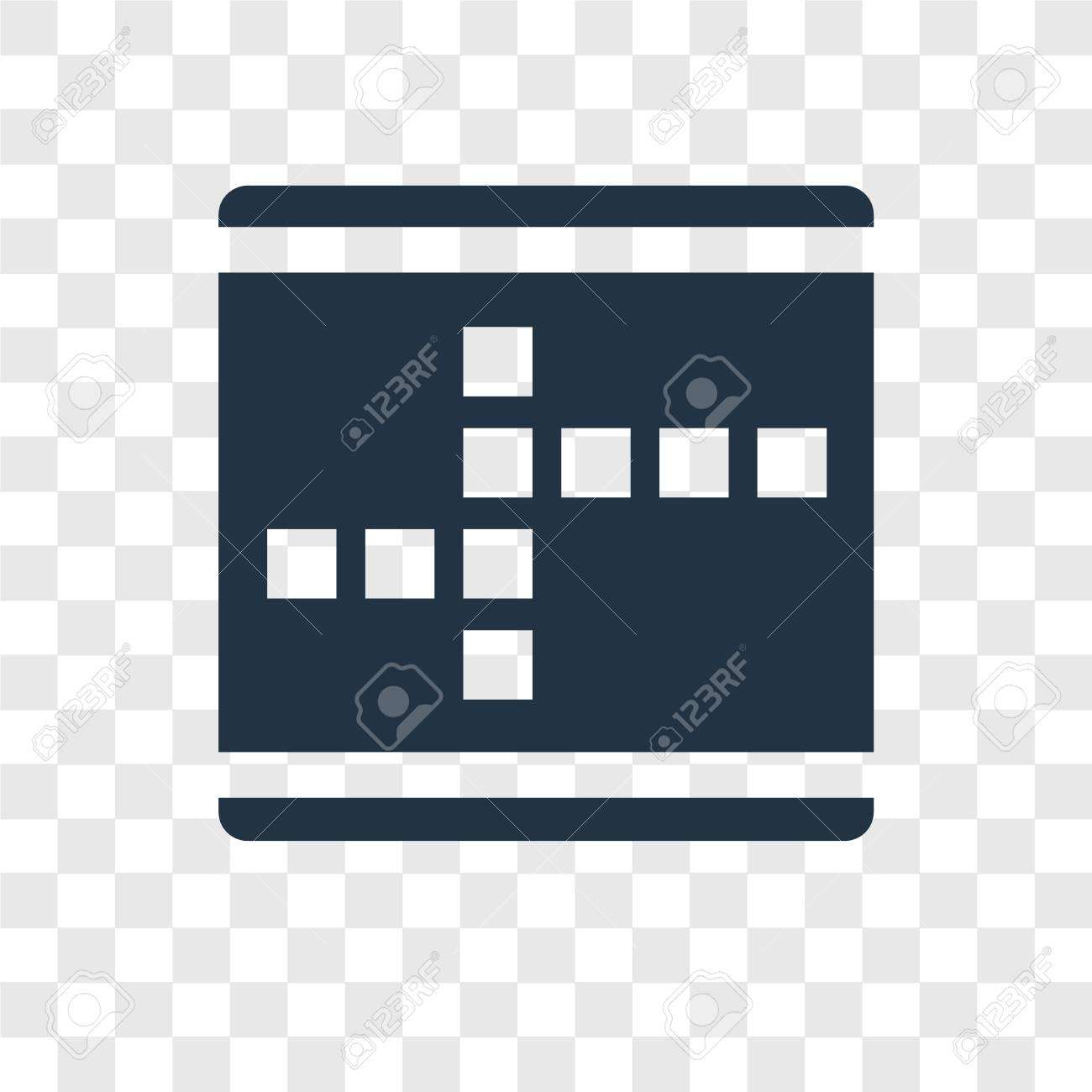 Crossword Vector Icon Isolated On Transparent Background 1300x1300
