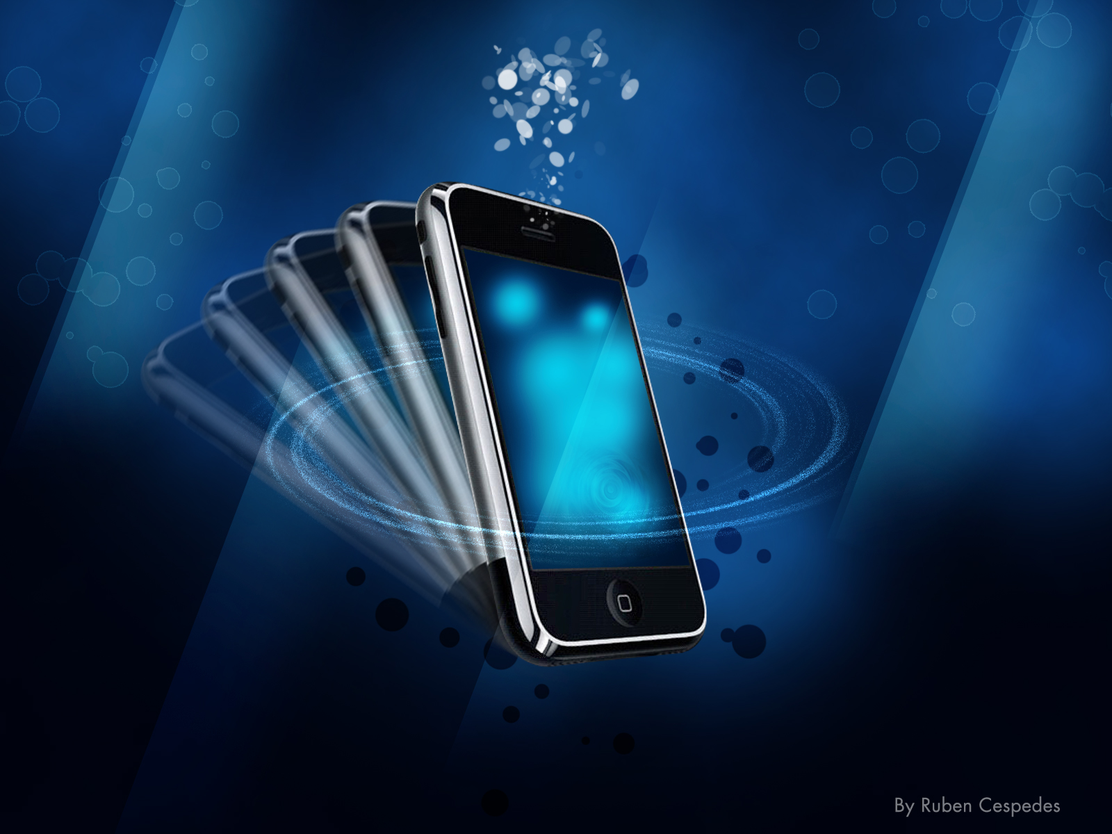 iPhone in Blue Wallpapers HD Wallpapers 1600x1200