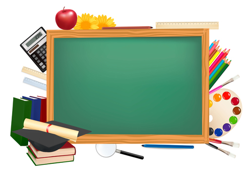 of Back to School elements background vector 03   Vector Background 500x356