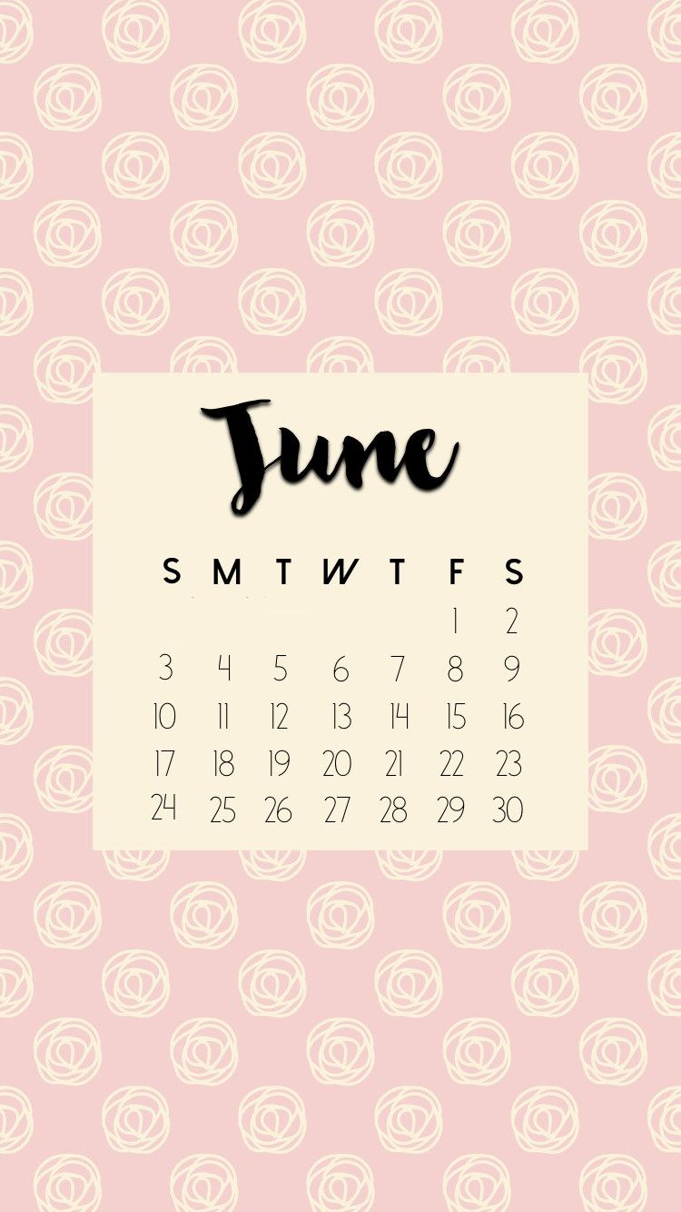 June 2018 iPhone Calendar HD Wallpapers Calendar 2018 in 2019 750x1334