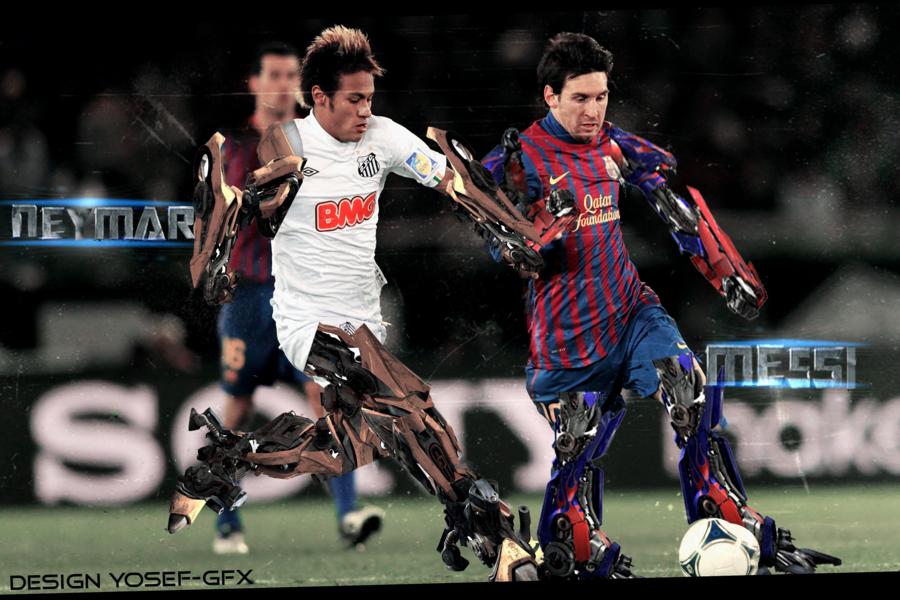 Messi And Neymar Wallpaper Hd 2014 Messi vs neymar transformers 900x600