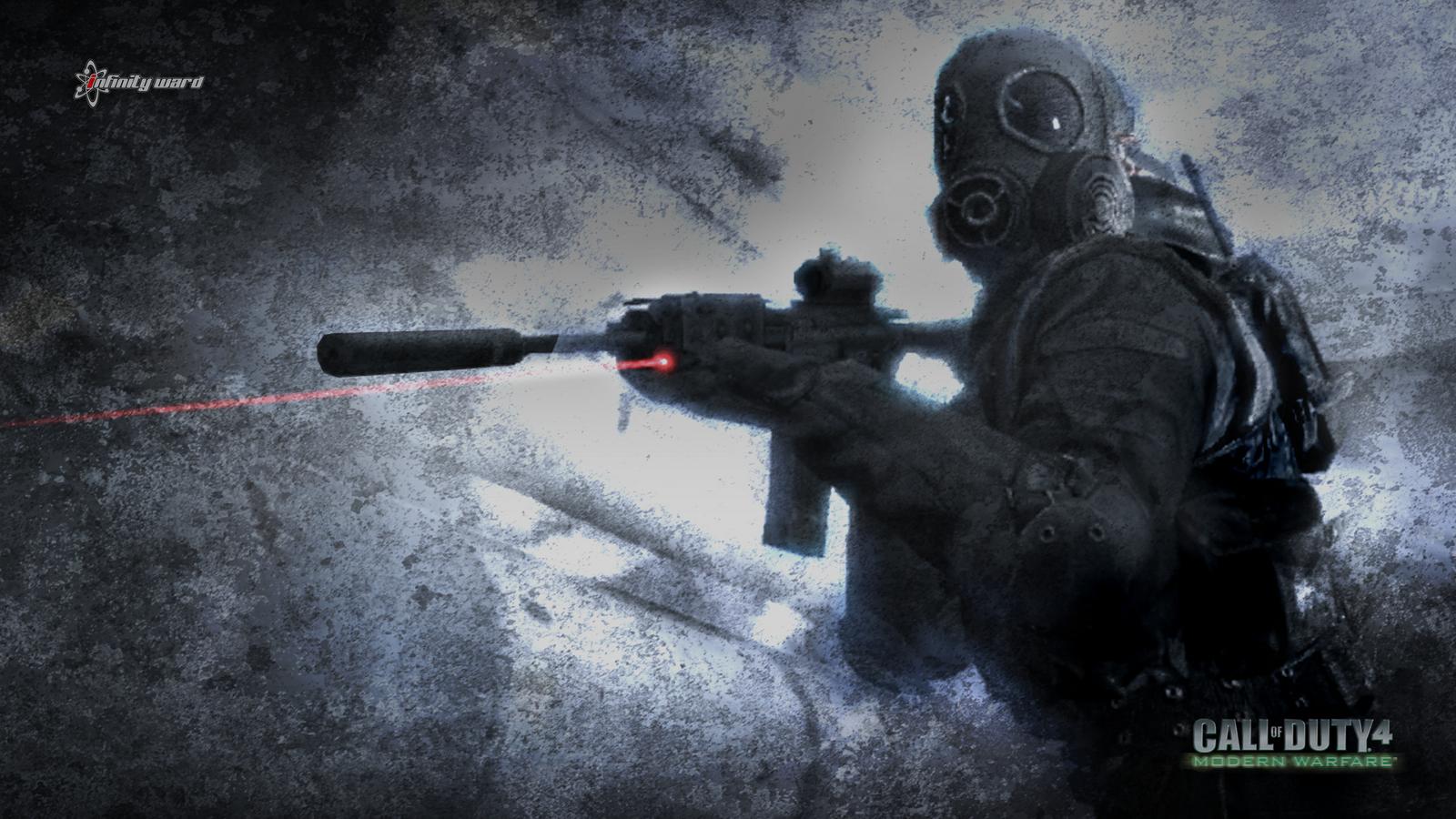 download Call of Duty Modern Warfare 4 HD Wallpaper Logo 1600x900