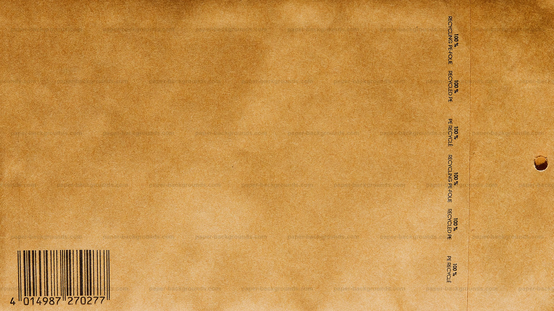 brown paper bag wallpaper technique