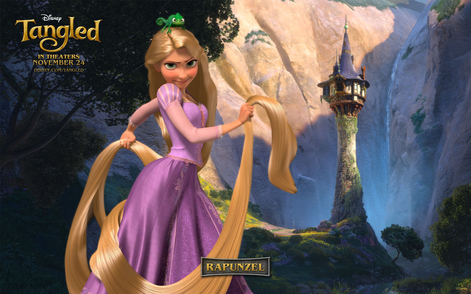 Tangled Disney Wallpaper   Princess Rapunzel from Tangled Wallpaper 1920x1200