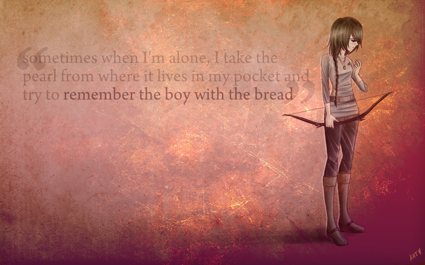Hunger Games Mockingjay wallpaper 01 by fortykoubuns 1440x900