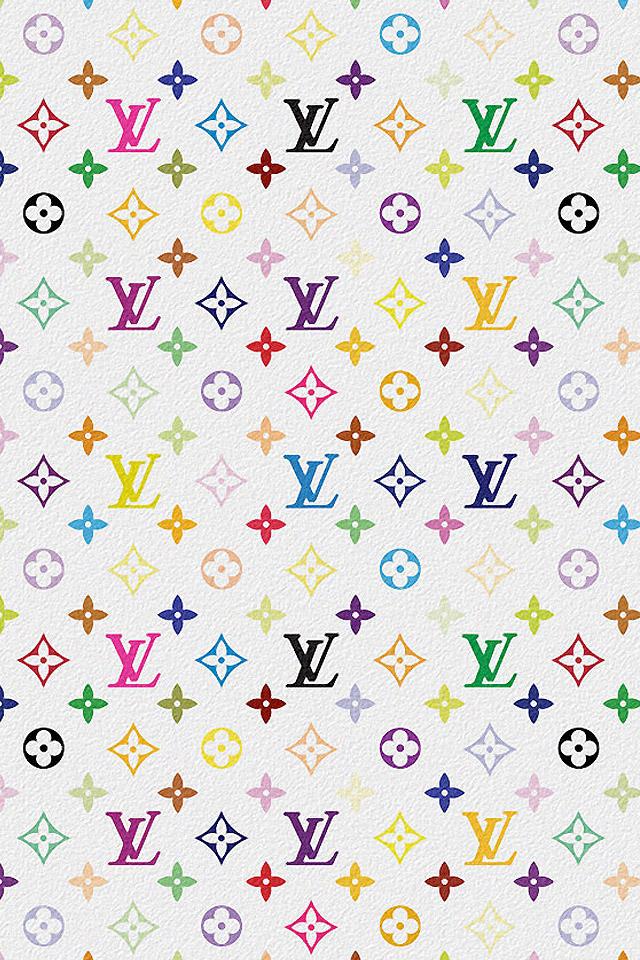 download Louis Vuitton Multicolor iPhone Wallpaper HD 640x960