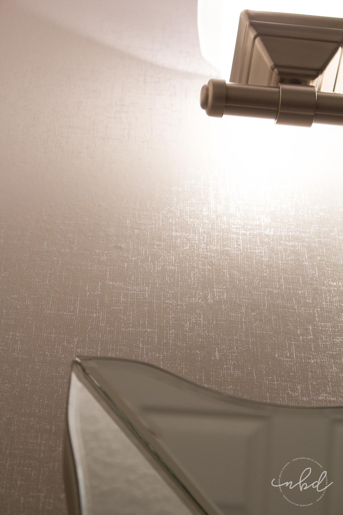 Elegant Half Bath on a Budget Devine Color Wallpaper 1100x1650