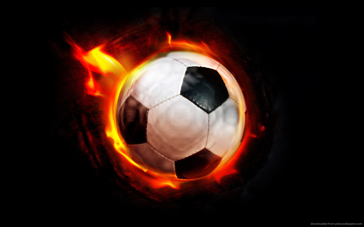 Download 1440x900 Burning Soccer Ball Wallpaper 1440x900