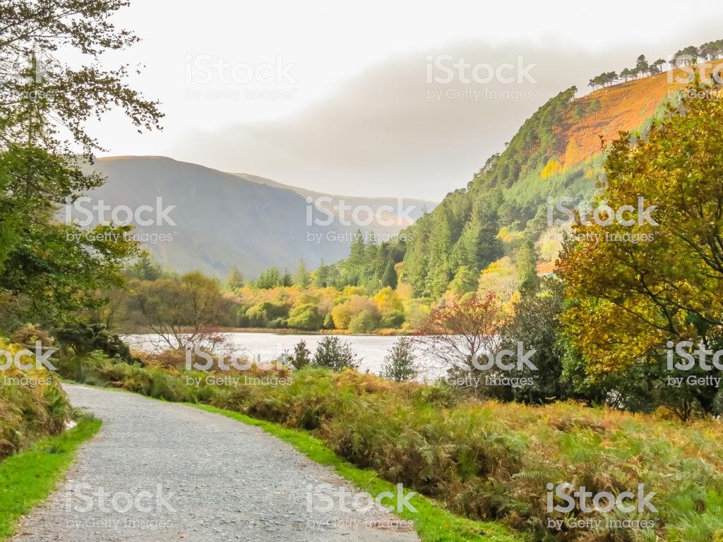 Glendalough Valley Wicklow Mountains National Park Ireland Stock 1024x768