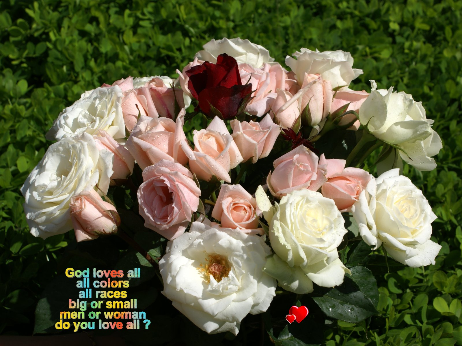 god wallpaper god loves all all colors all races big or small men or 1600x1200