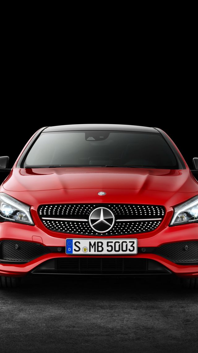 Wallpaper Mercedes Benz CLA 200 d 4MATIC AMG Line NYIAS 2016 640x1138