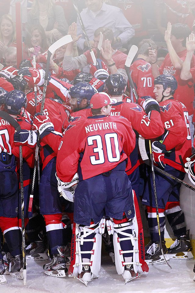 FREEIOS7 washington capitals   parallax HD iPhone iPad wallpaper 640x960