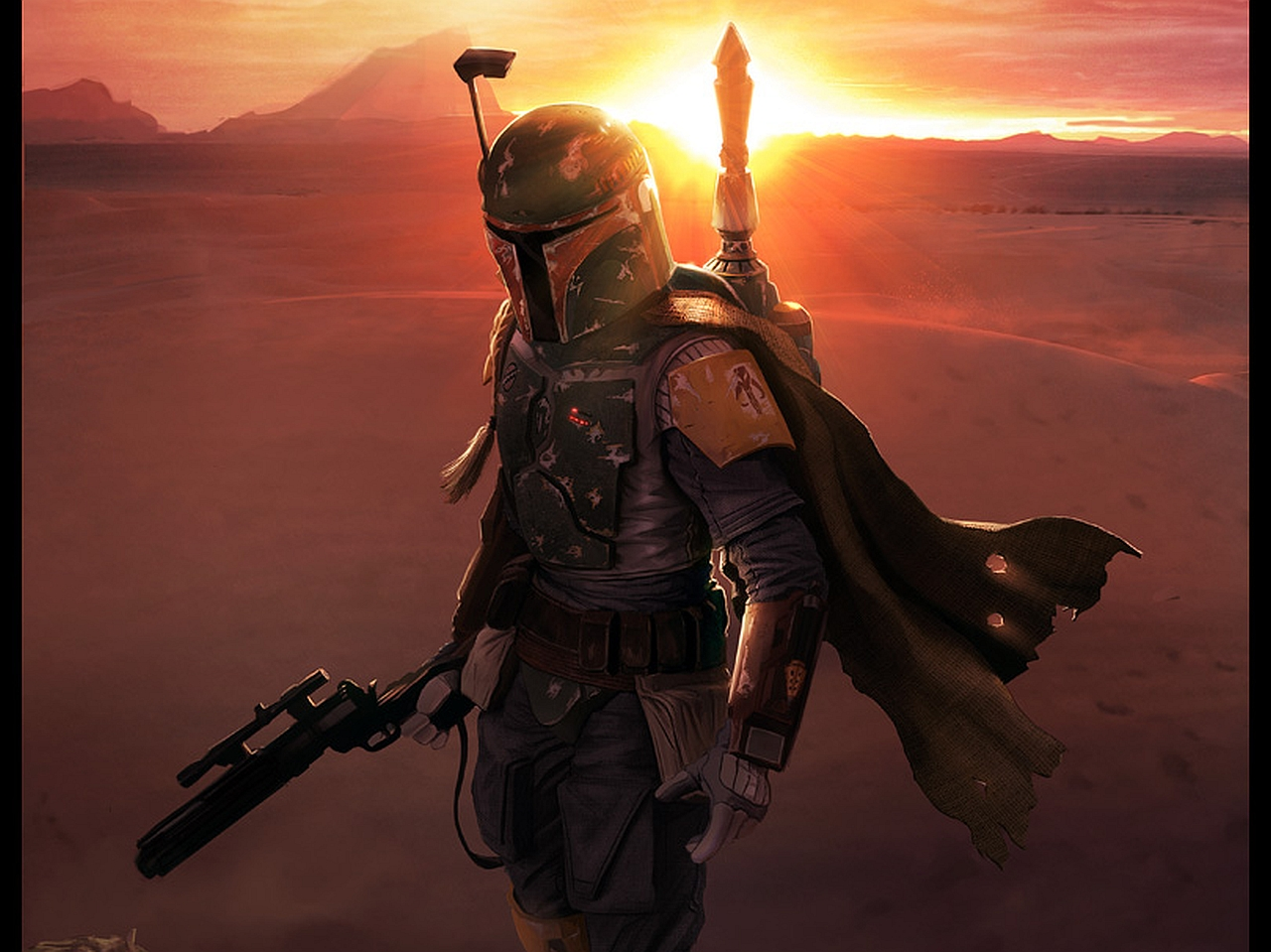 Sci Fi   Star Wars Boba Fett Wallpaper 1280x959