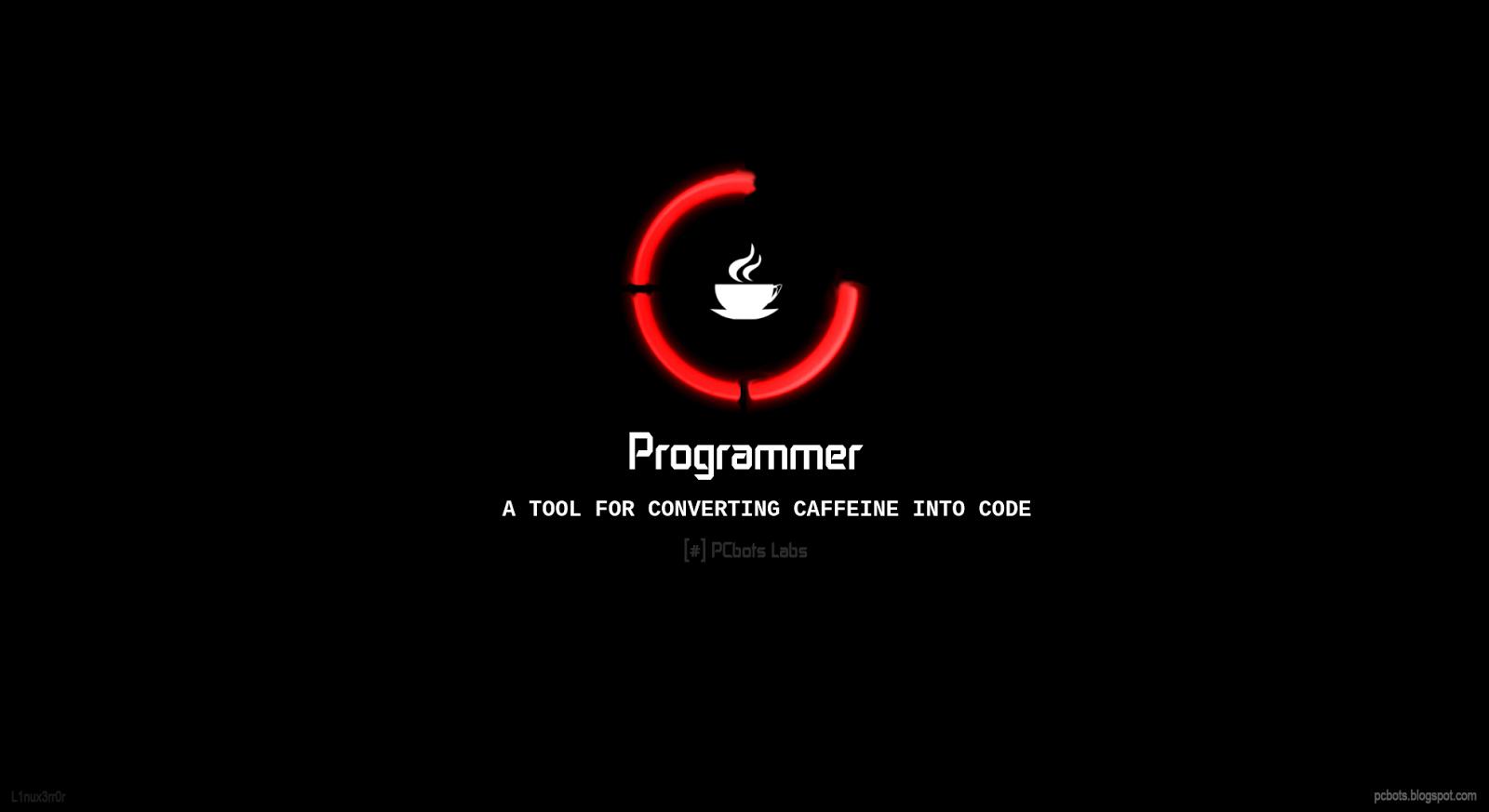 Caffeine Loading Please Wait   Programmer HD Wallpaper by PCbots 1600x873
