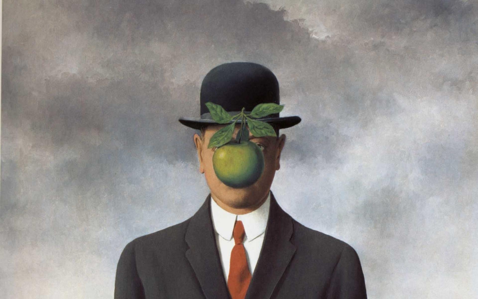 magritte son of man 1686x2198 wallpaper High Resolution WallpaperHi 1920x1200