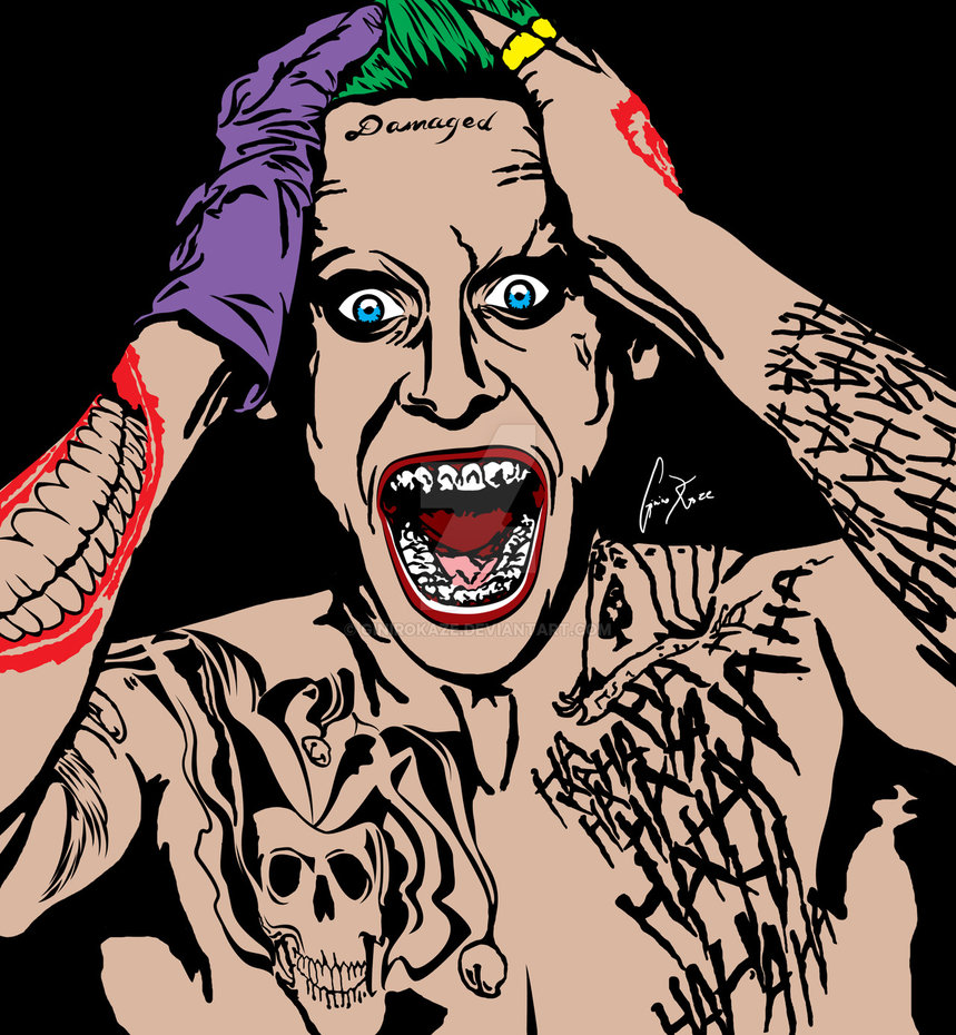Free Download Jared Leto The Joker By Ginirokaze 859x930 For
