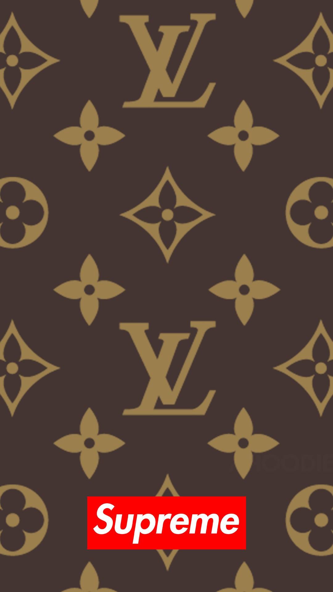 Supreme x Louis Vuitton iPhone Wallpaper 1080x1920