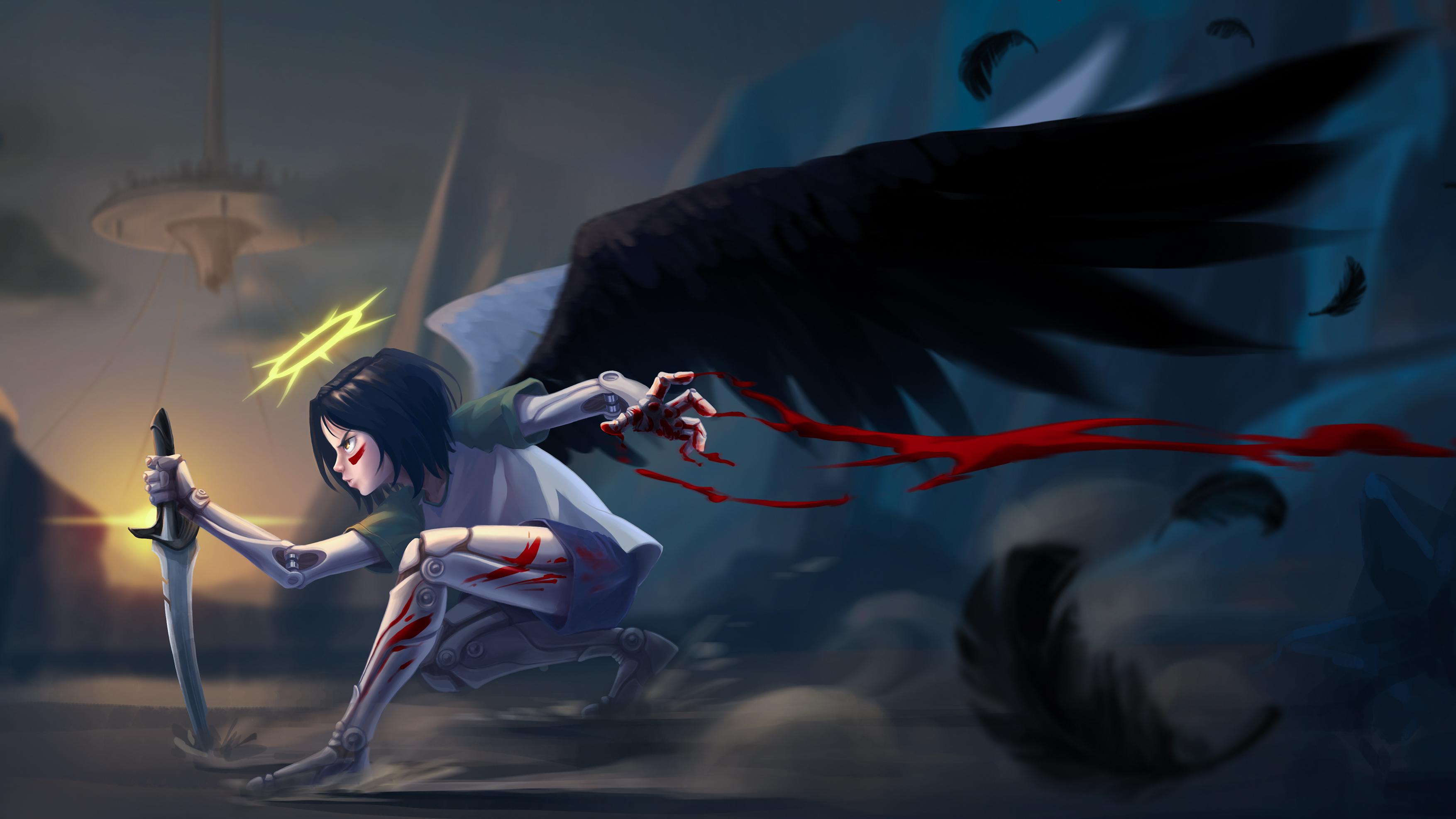 Free Download Alita Battle Angel Hd Wallpaper Background Image