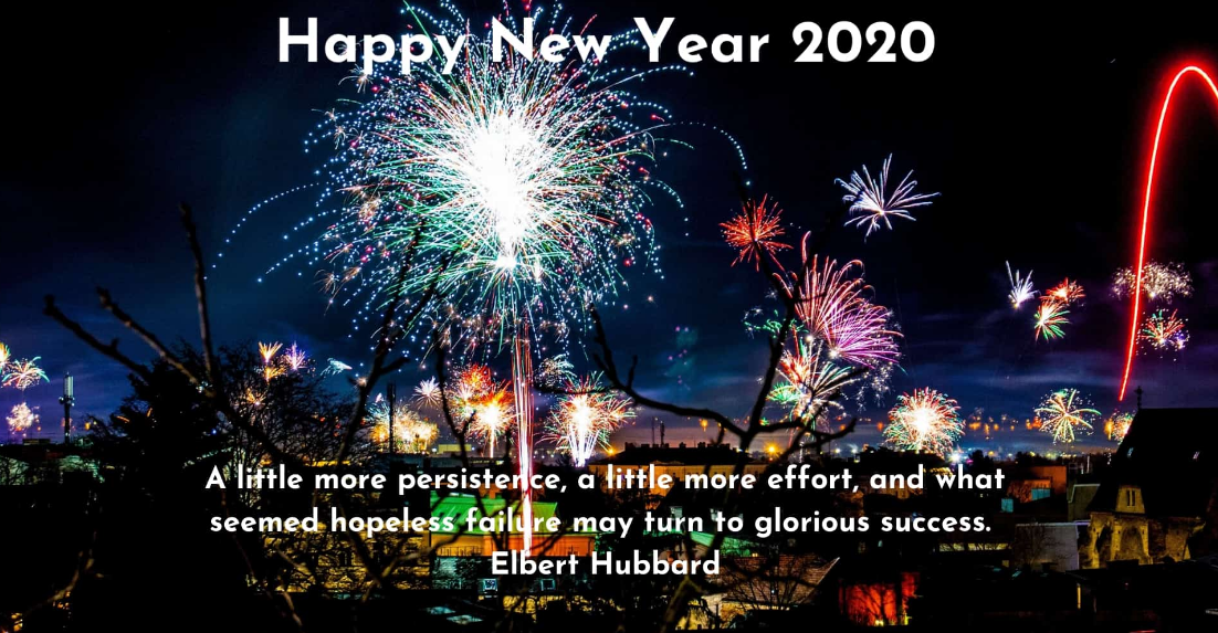 Happy New Year Wallpaper With Quotes 2020   Happy New Year 2020 1102x573