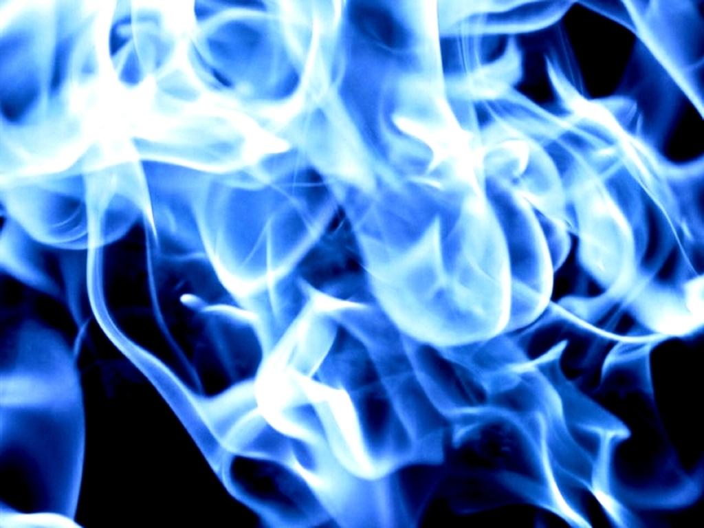 Pics Photos Blue Fire Wallpaper Desktop 1024x768