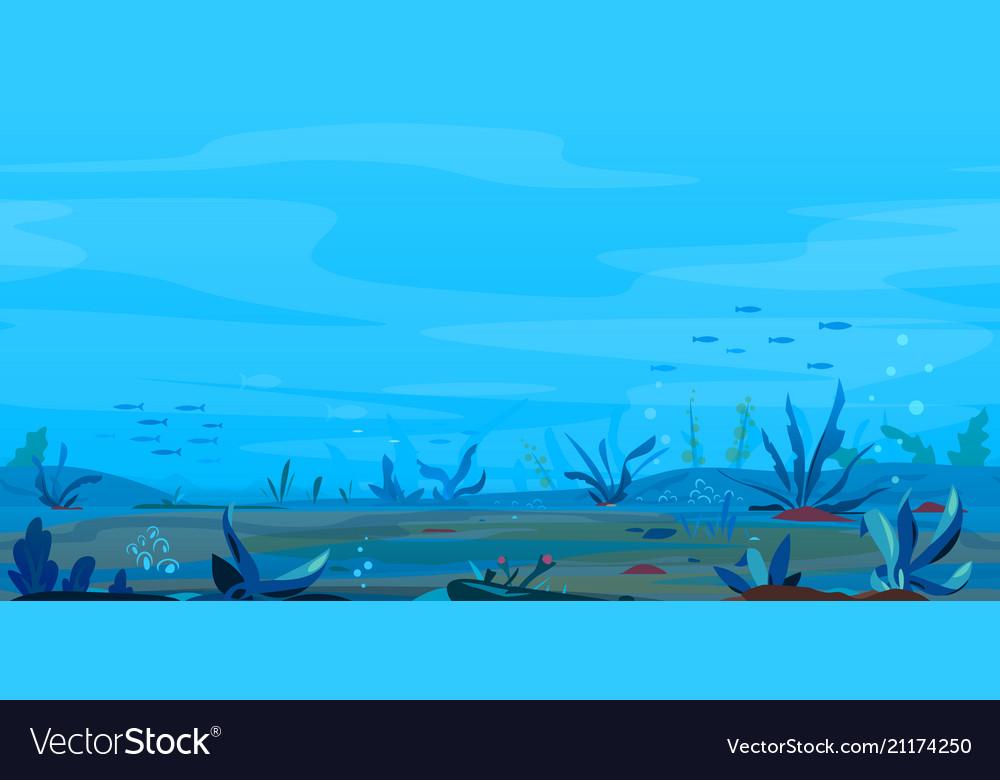 Underwater landscape game background Royalty Vector 1000x780