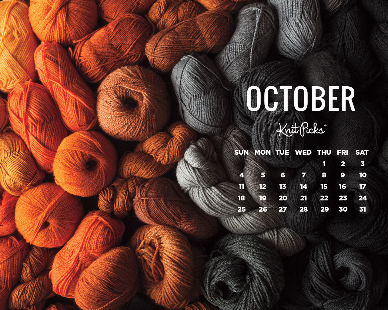 October 2015 Wallpaper Calendar   KnitPicks Staff Knitting Blog 1280x1024