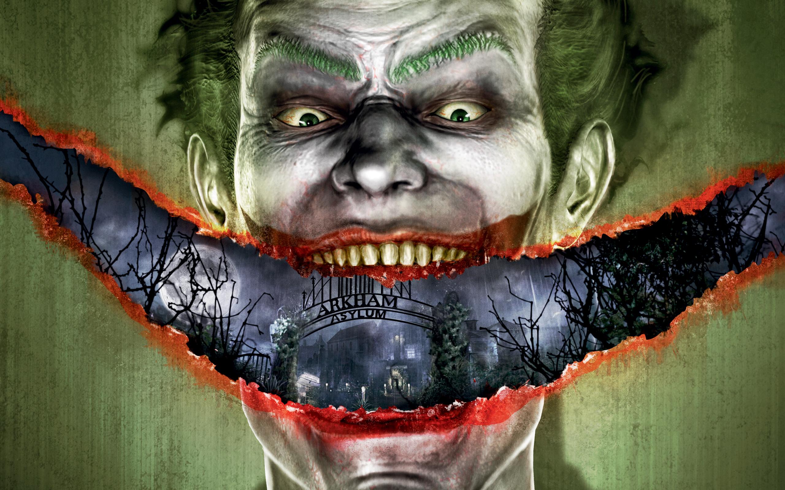 Joker Arkham Asylum Wallpaper Joker batman a 2560x1600
