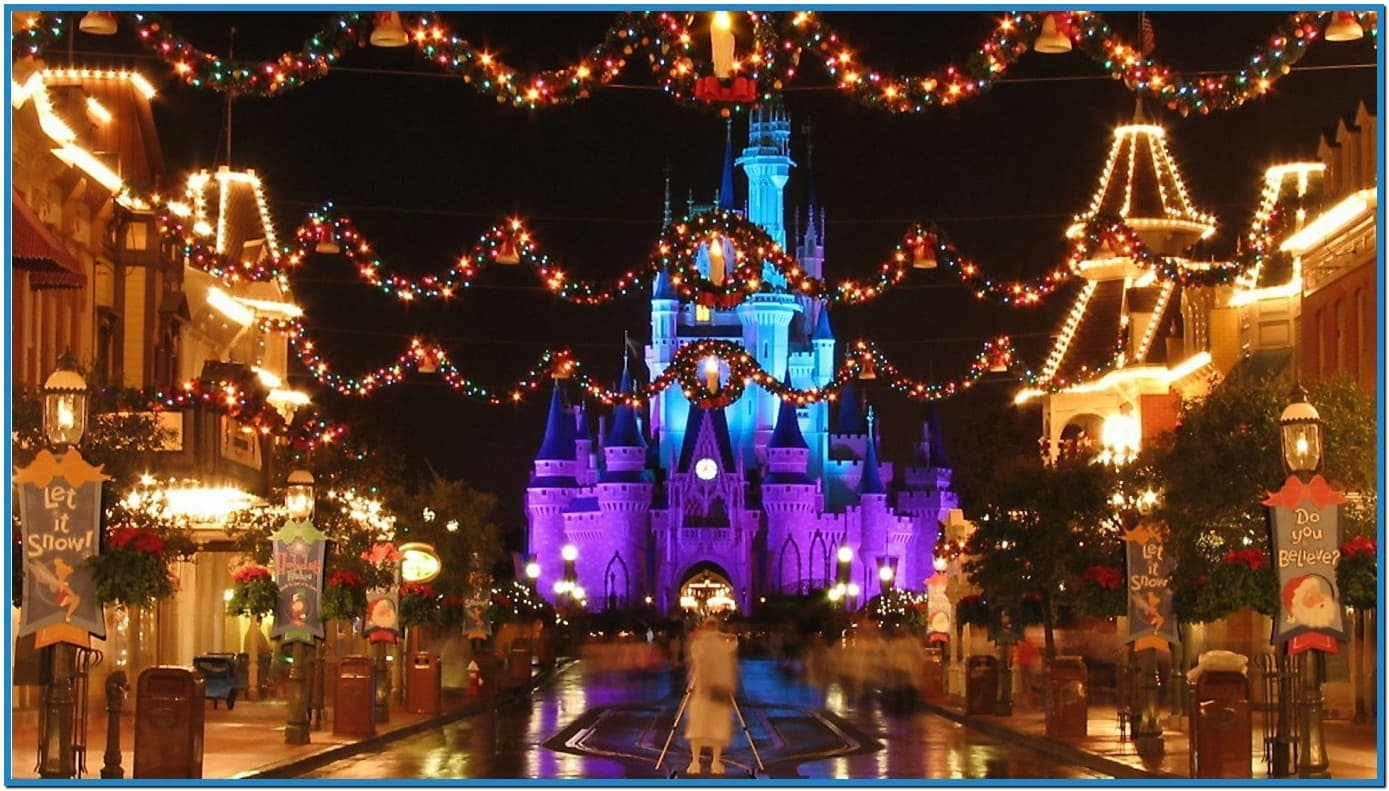 Disney world christmas screensavers   Download 1389x791