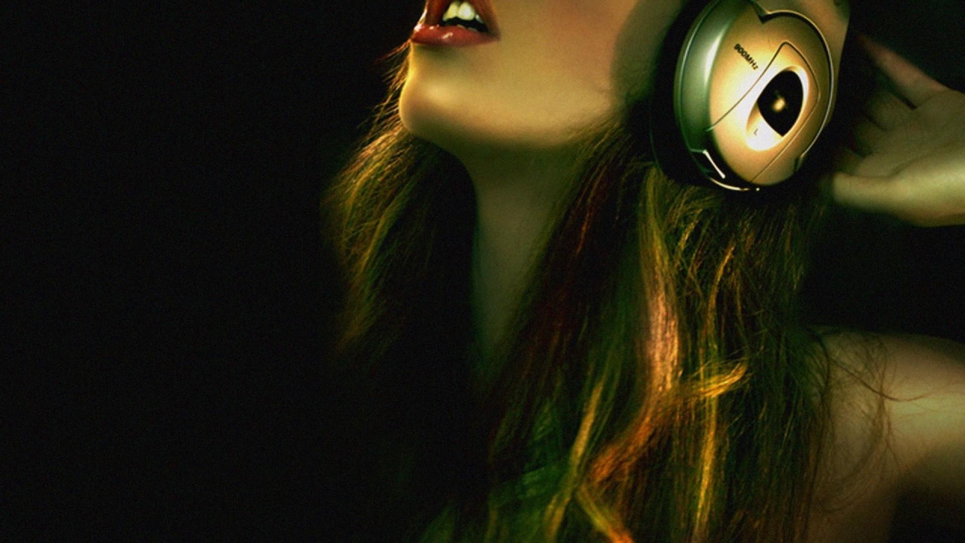 download music dj girl wallpaper 1920x1080