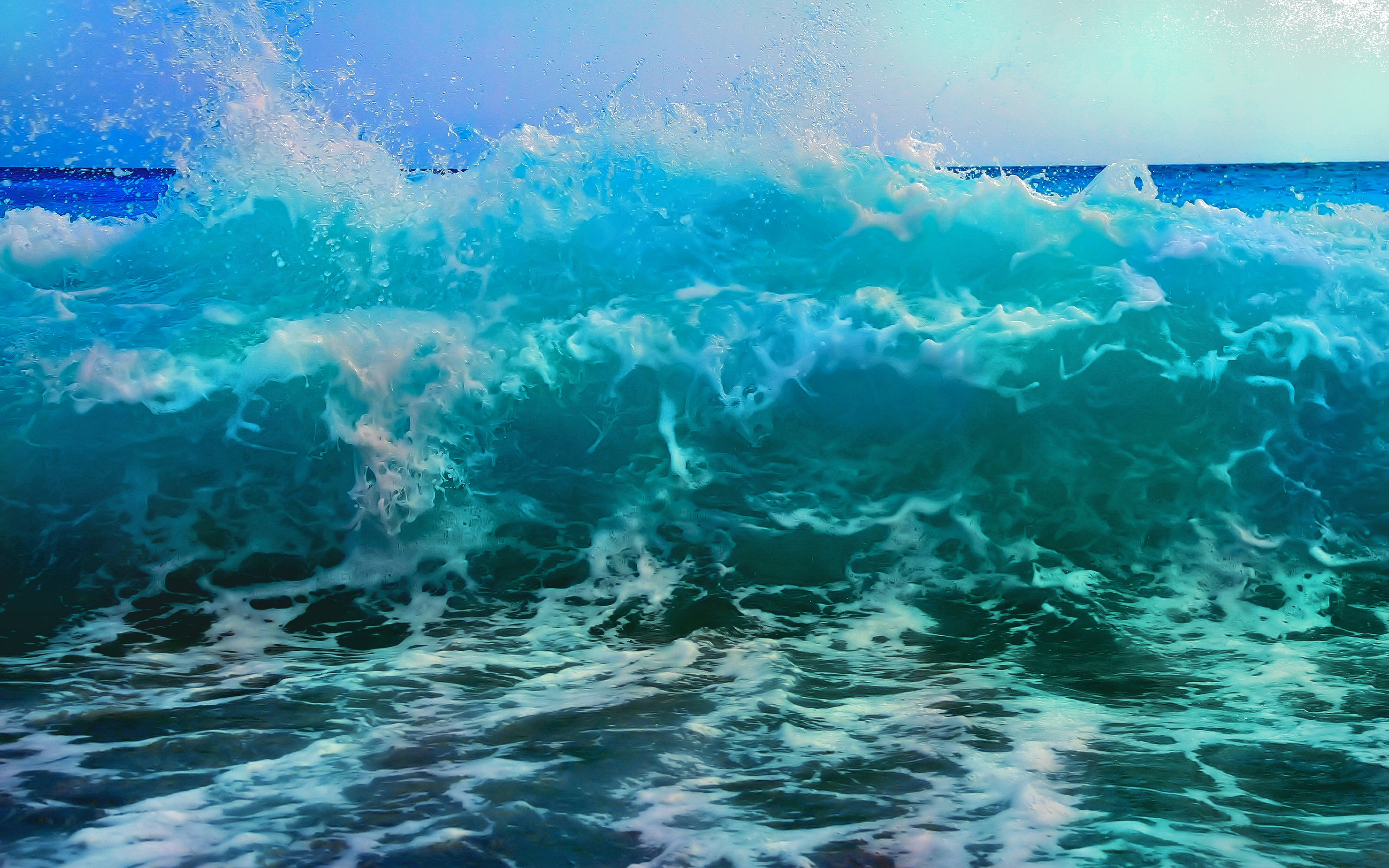 Beach Wave Parallax Hd Iphone Ipad Wallpaper: Animated Ocean Waves Wallpaper