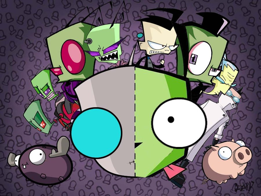 GIR IS ADORABLE   Invader Zim Wallpaper 28259119 900x675