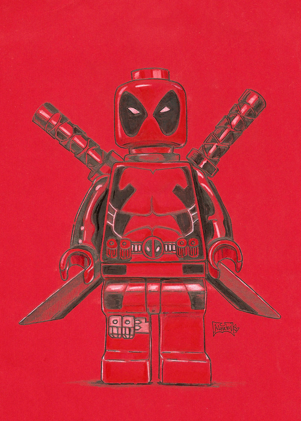 Lego Deadpool by Xpendable 1024x1430