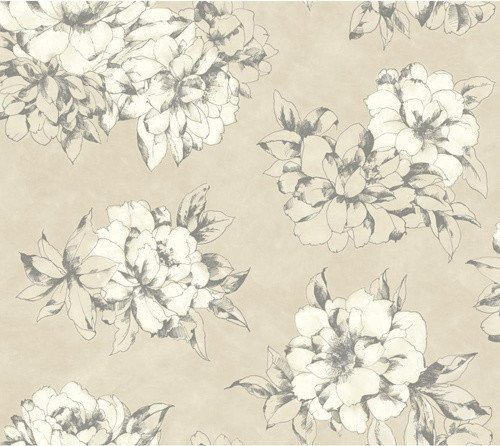 Black White Cream Beige and Lead Gray Wallpaper eclectic wallpaper 500x446