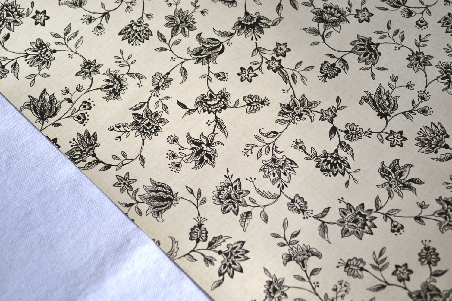 Free Download Waverly Wallpaper Black Toile Accent Floral Print By