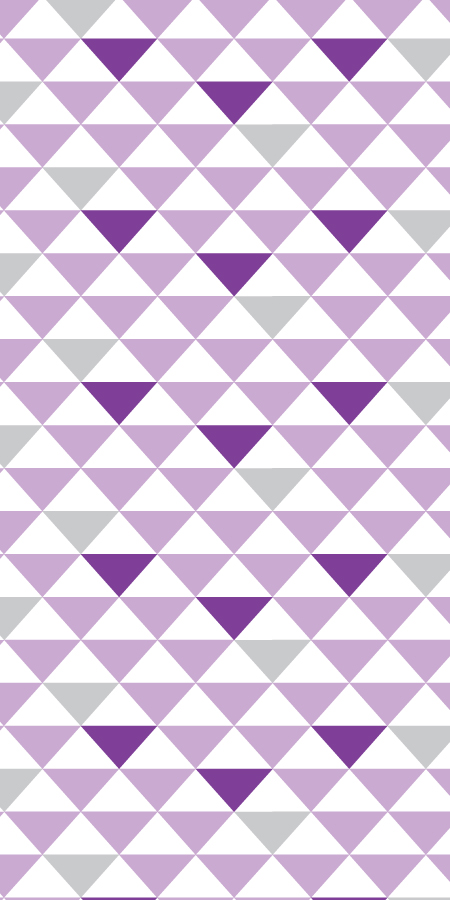 Geometric Triangles PurpleGrey BC Magic Wallpaper 450x900
