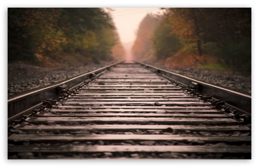 Railroad Tracks HD wallpaper for Standard 43 54 Fullscreen UXGA XGA 510x330