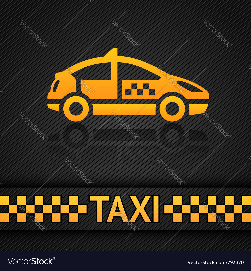 Racing background template taxi cab backdrop Vector Image 1000x1080