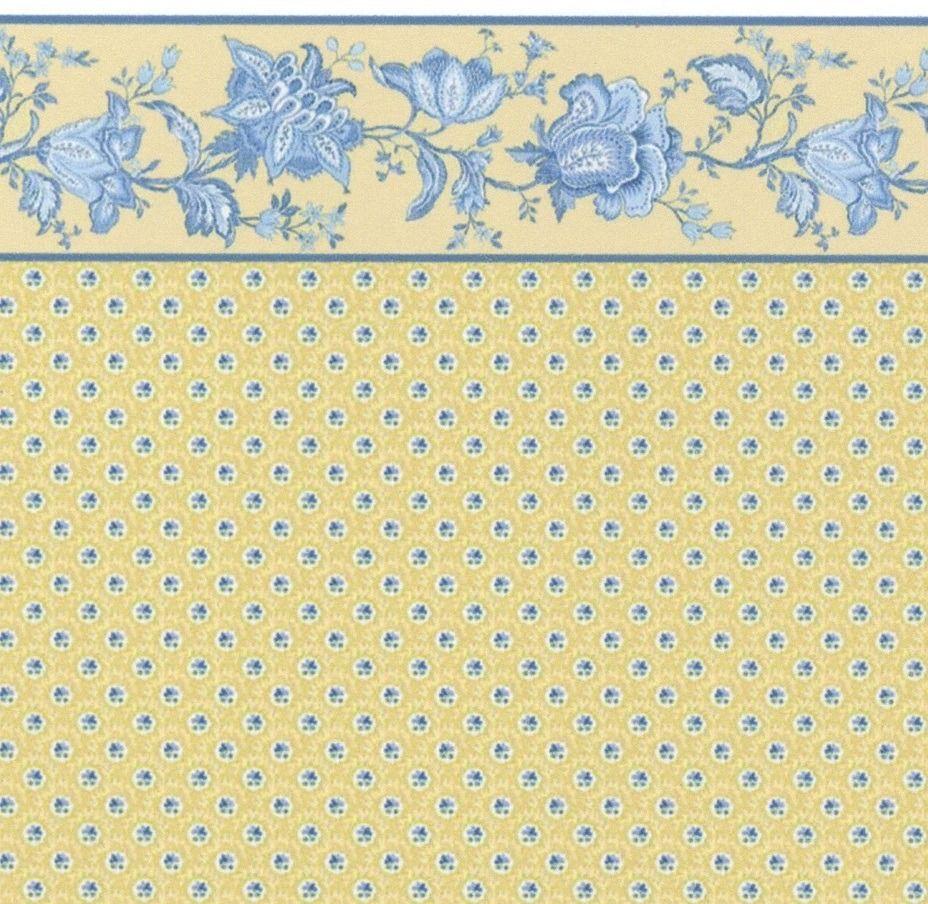 Dollhouse Wallpaper: Yellow Dollhouse Wallpaper