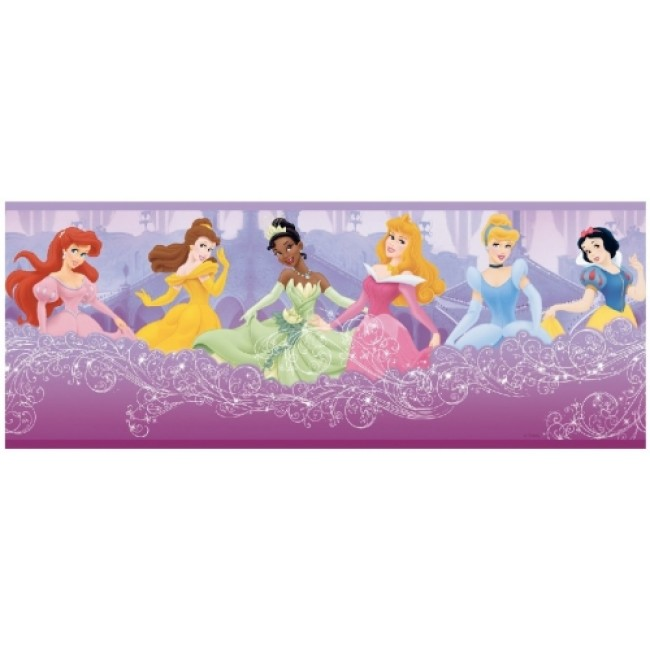 Princesses on a Purple Cloud Wallpaper Border   All 4 Walls Wallpaper 650x650