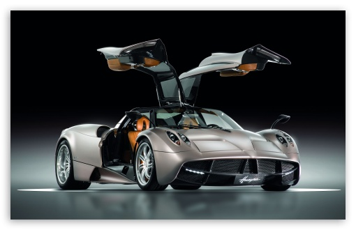 Pagani Huayra Gunmetal Front Side View HD wallpaper for Standard 43 5 510x330