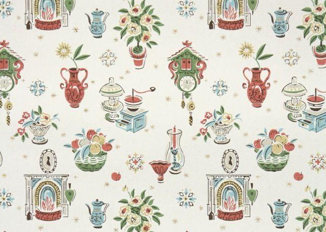 Vintage Kitchen Wallpaper Paint Tiles Pinterest 640x457