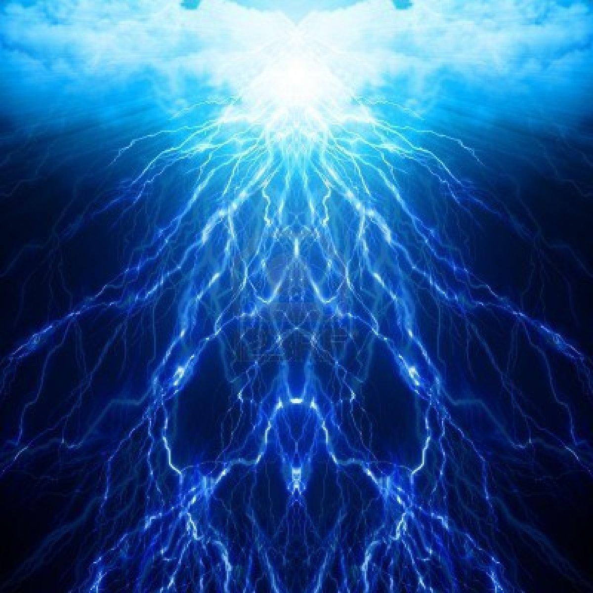 Blue Lightning Backgrounds   HD Wallpapers 1200x1200