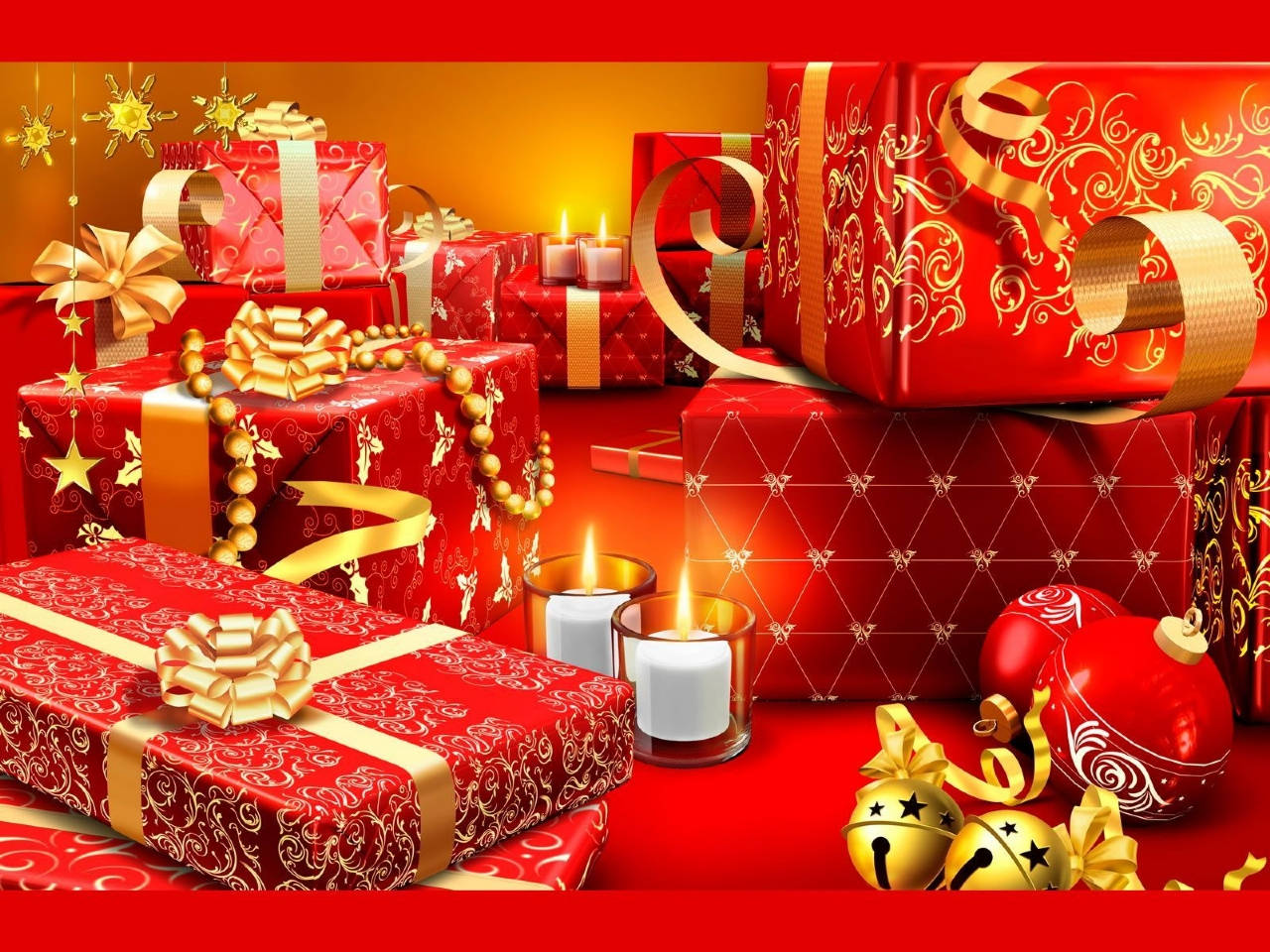 Digital art Christmas Decoration desktop wallpaper nr 1280x960