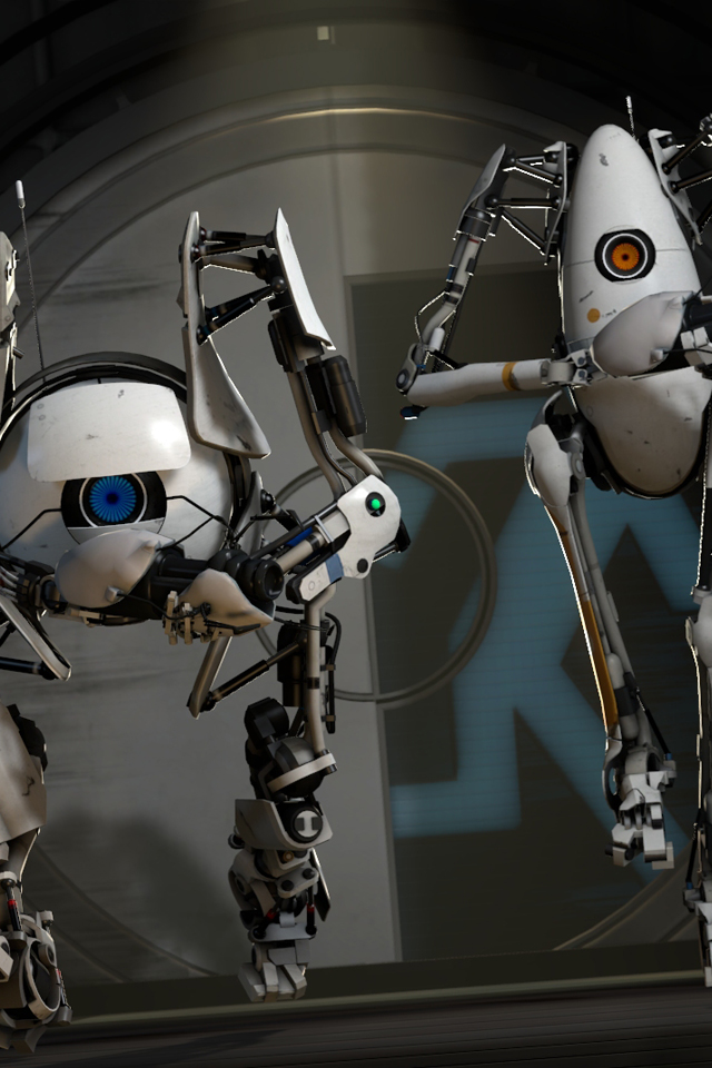 Portal 2 Wheatley wallpaper iPhone Wallpapers 640x960