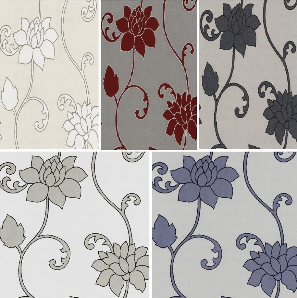 NEW LUXURY PS DECOR DELUXE ORPHEO FLORAL TRAIL METALLIC TEXTURED 998x1000