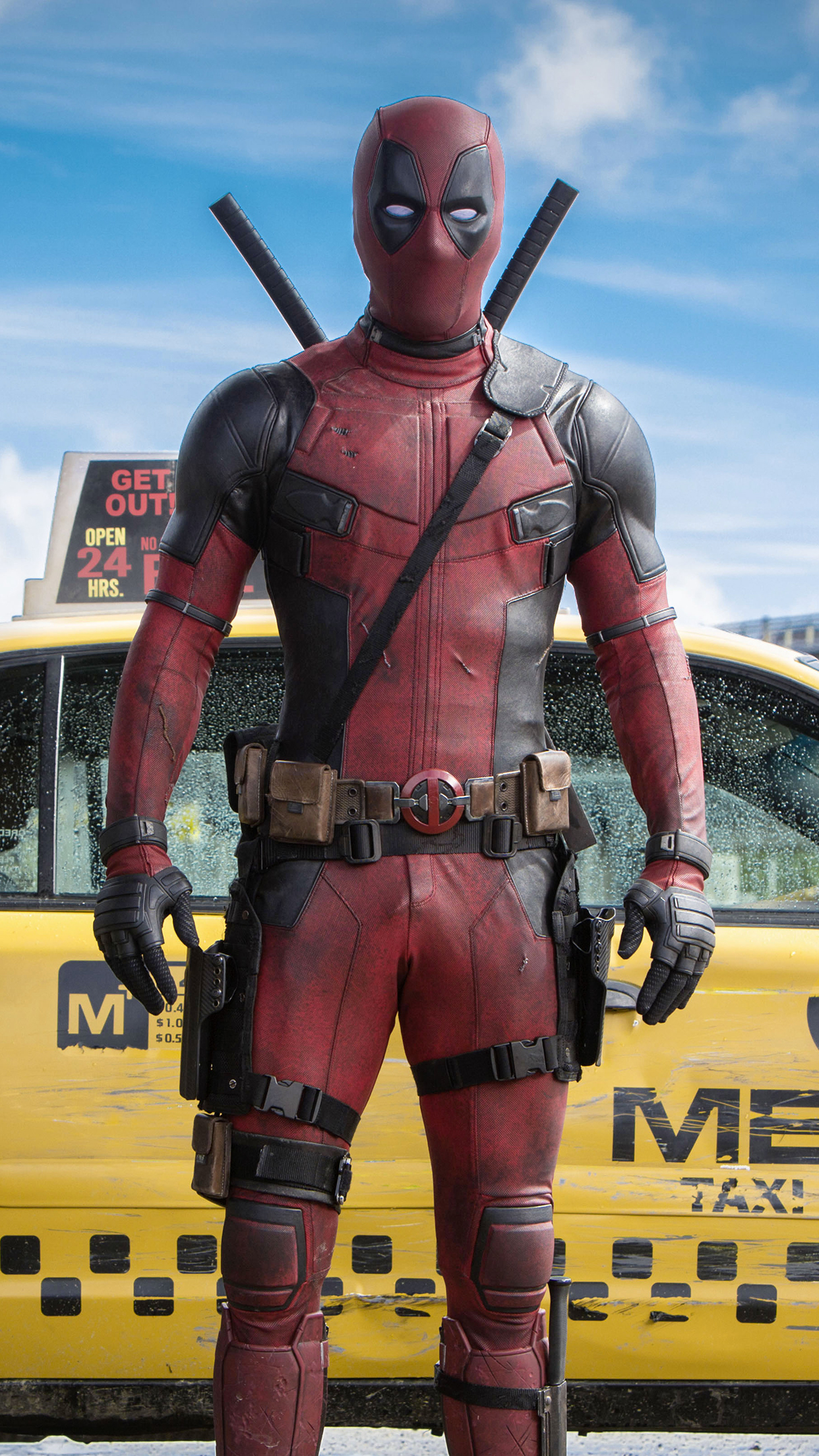 DeadPool poster 3Wallpapers iPhone Parallax Les 3 Wallpapers iPhone du 1242x2208