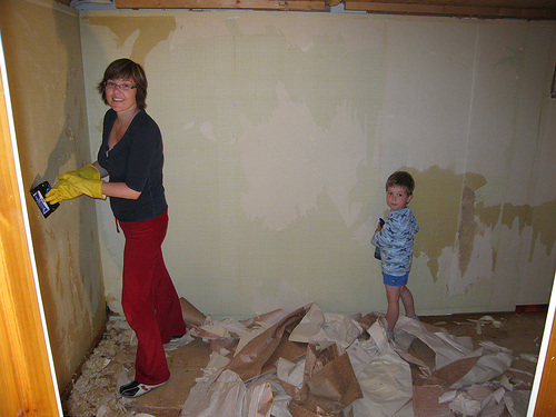 How to Remove Wallpaper Removing paper or vinyl wall covering can be 500x375